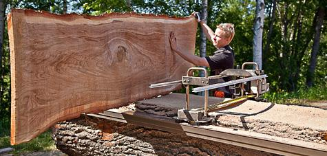 Cutting oak with Big Mill System - Woodworking Project